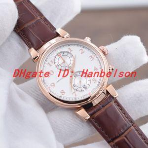 Relógio de homens casual DA VINCI Movimento de quartzo Rose Gold Steel case IW393402 Fivela de cinto de couro fivela Chronograph WristWatch