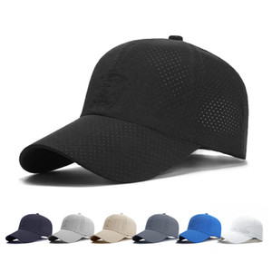 Wholesale Men Women Summer Snapback Quick Dry Mesh Baseball Cap Sun Hat Bone Breathable Hats Adjustable Free Shipping