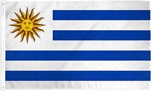 Livraison gratuite en gros prix usine 100% polyester 90 * 150 cm 3x5 fts URY UY drapeau uruguay pour la décoration