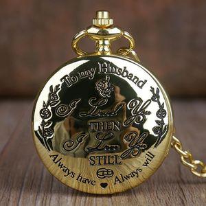 내 남편 쿼츠 포켓 시계 패션 캐주얼 FOB 체인 포켓 시계에 좋은 선물 연인 남편 시계 Fob 시계에 대 한 최고의 선물