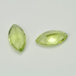 Big Size Marquis 7X14 Facet Cut Authentic Natural Peridot Semi-Precious Loose GemStone For Jewelry Setting 3pcs Lot