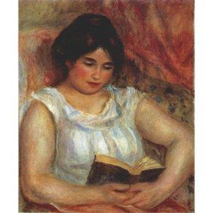 Gabrielle reading by Pierre Auguste Renoir картина маслом ручная роспись современное искусство декор стен ручной работы холст