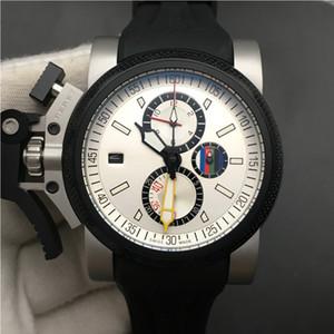Büyük Bilek Hediyesi için Chronofighter Oversize Saatler British Usta Erkekler İzle 47mm Kronograf Kuvars Hareketi El saatler