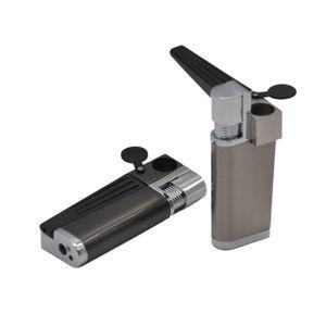 2018 Multifonction Style Pipe Avec Cigarette Briquets Creative Métal Tube Briquet Pas De Gaz Cigarette Accessoires