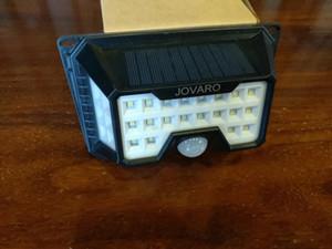 JOVARO solaire lumières extérieur 66 LED avec lumière solaire Capteur réflecteur Mouvement Lumière de sécurité IP65 étanche énergie solaire lampe murale sans fil