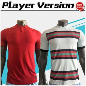 versão o jogador # 7 RONALDO Futebol 19/20 Homens casa vermelho afastado branco # 23 JOÃO Felix nação equipe camisas de futebol de 2020 uniformes de futebol