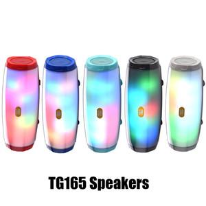 Nuovo TG165 Bluetooth Speaker LED Flash portatile stereo Audio Player audio Hi-Fi Subwoofer Speaker bassi profondi 1200mAh Music Box