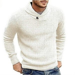 Men Fashion Pullovers 2020 Spring New Arrival Solid Color Sweater Mens Casual Loose Sweater High Quality Mens Hoodies Hot Sell