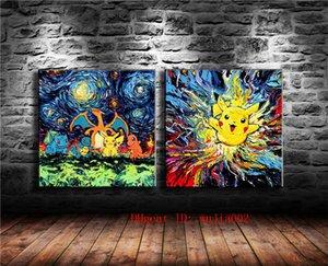 Digimon Bicau, 2P Leinwand Malerei Wohnzimmer Wohnkultur Moderne Wandmalerei Ölgemälde