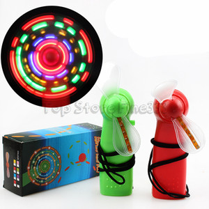 Summer led mini fan children colorful small fan kids LED Lighted Toys Handheld flash Fan LED Toys Dropshipping WTA871