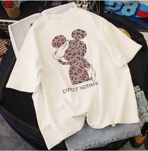2020 Sommer-Frauen-Designer-T-Shirts lösen plus Größen-Luxusmode-Frauen Tuch Carton Art-Maus Printed Lässige Kleidung