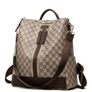 Designer Sac à dos de luxe Femmes épaule Sac à dos Casual Mode Polyvalent Simple grande capacité Sac de femmes de haute qualité géométrique Motif 2