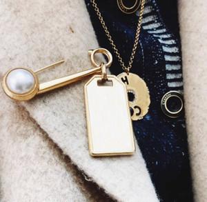 Marca de moda tem selos designer broches broches para senhora mulheres festa amantes casamento jóias de luxo de noivado para noiva com caixa