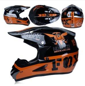 FOX capacete da motocicleta do sexo masculino cobertura completa verão quatro estações do sexo feminino capacete off-road tendência locomotiva correndo pedal descer capacete