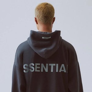 19SS FOG FEAR OF GOD ESSENTIALS 3M Reflective Letter Printing Fashion Hoodie High Street Casual Hoodie Pullover Sweater Street HFSSWY008