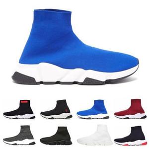 De haute qualité chaussettes de luxe chaussures vitesse formateur baskets vitesse formateur chaussette course coureurs noir hommes et femmes designer chaussures de sport 36-47