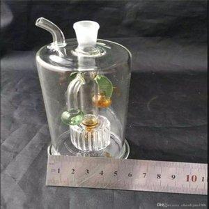 tuyaux en verre Cocotier, verre d'eau tuyaux Tuyaux Percolateur verre fumeur Bongs de brûleurs à mazout Les conduites d'eau Rigs huile fumeur