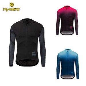 YKYWBIKE задействуя Джерси Мужчины Майо 2020 Pro Winter с длинным рукавом термальной ватки MTB велосипед рубашка Светоотражающие Новый велосипед Одежда на заказ Дизайн