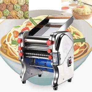 Spagetti Erişte Fettuccine Dumpling Maker Erişte-Maker Roller-Machine için 4.Stainless Çelik Taze Makarna Makinesi Silindir Makinesi