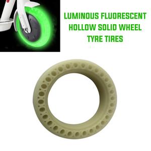Pneus pcmos rodas para Mijia M365 Scooter luminosa fluorescente oco sólidos pneus da roda do pneu Auto Peças de reposição 2019