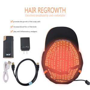 2019 neues Modell Laser Kappe Haarwachstum Laser-Maschine bestes Produkt Laser-Haar Nachwachsen der Haare wächst Lichttherapie 650nm Dioden-Kappe geführt