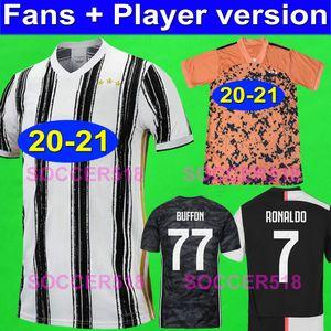 RONALDO player version 2020 2021 JUVENTUS x PALACE fourth 4TH soccer jerseys 04B0950 DE LIGT DYBALA BUFFON goalkeeper kids football shirts