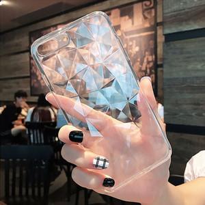 Cassa del diamante del silicone 3D per Huawei P intelligente 2019 Mate 20 10 Lite P20 P30 Nova 4 3 3i sull'onore 8X 8C 20 Pro 10 Y5 Y7 Y9 2019 Caso