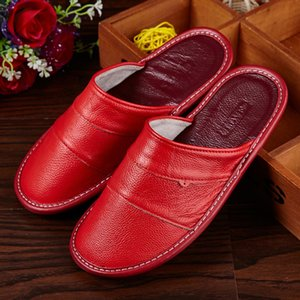 Mntrerm New Spring Slippers 2020 Women Leather Shoes Casual Sneakers For Home Indoor Slipper Pantufas Non-slip Woman Floor Shoes Y200706