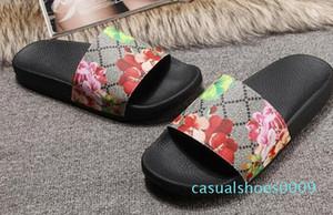 Europ Lüks Slayt Yaz Moda Geniş Düz Kaygan ile Kalın Sandalet Terlik Bay Bayan Sandalet Tasarımcı Ayakkabı Terlikler Slipper36-45 C09