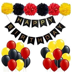40 adet / grup Mutlu Doğum Günü Mektup Balonlar Karikatür Çocuk Doğum Günü Partisi Dekoru Bebek Duş için Hava Globos Çocuk Günü