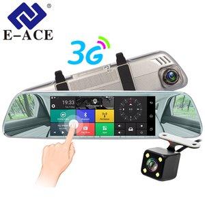 "E-ACE автомобилей видеорегистраторы 7"" сенсорный зеркало заднего вида 3G Android 5.0 камеры GPS Bluetooth Handfree WIFI FHD 1080P16G двойной объектив Video Recorder"