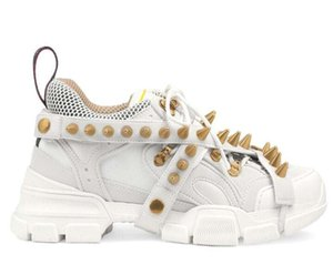Шипы Flashtrek дизайнер кроссовки с шипами съемные шипы мужские Роскошные дизайнерские туфли мода повседневная дизайнерская Женская обувь кроссовки h2