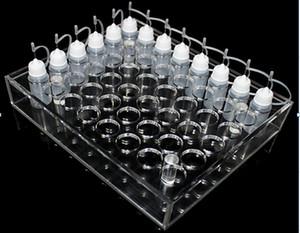 الاكريليك e سيج عرض موقف معرضا عرض واضح حامل الرف الرف ل ecig 10ML 20ML 30ML 50ML السائل زجاجة عصير فارغة