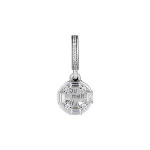 Perlas talladas de hielo del Reino Unido de plata de ley 925 se ajustan a la pulsera de estilo pandora 797553CZ H8
