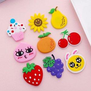 10pc Silicone fridge magnets cartoon vegetable fruits love sticker refrigerator magnet message for children home decoration gift