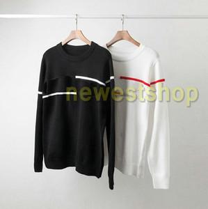 2020 самая новая мода мужская Reverse письмо печати вязаной шерсти свитер Повседневный пуловер с длинным рукавом свитера дизайнера классического отдыха Трикотаж