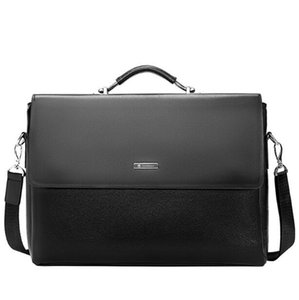 Brand Men Bags Business Briefcase Luxury Messenger Handbags Male Laptop Bag Office Black Brown Leather Handbags Men Briefcas