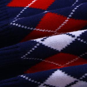 [] Europe And America College Style Rhombus Vest Childrenswear Sweater School Uniform Waistcoat