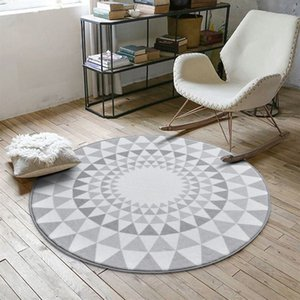 Nordic Gray Series Round Carpets For Living Room Computer Chair Area Rug Children Play Tent Floor Mat Cloakroom Rugs And Carpets T200529