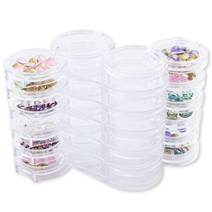 Caixa De Armazenamento De plástico Nail Art Gems Jóias Contas Decoração Recipiente 10 Slots Nail Art Storage Box Case Organizador TitularNail Art Sto