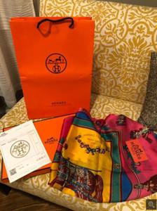 En gros printemps châle de soie foulard en soie classique femmes doux foulard en soie légère serviette de plage 190 * 80 cm W25
