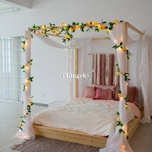 2.4M Rose flower decorative garland battery Copper LED fairy string lights for christmas wedding decoration party event Y200603