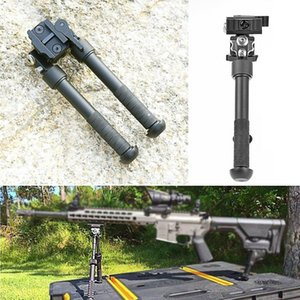 HQ 6.5-9 Inch Tactical Rifle Bipod Outdoor Stable Tripod Large Aluminum for Hunting Shotgun .223 556 Picatinny Rail Mount Quickly expand