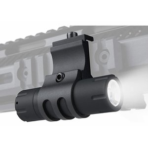 Monstrum 100 Lumens Ultra-Compact Flashlight with 90 Degree Offset Rail Mount and Detachable Remote Pressure Switch
