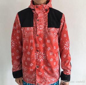 Desinger Jacken Herrenmode Hip Hop Winddicht Blumendruck Oberbekleidung Schneejacke
