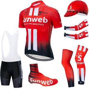 6PCS مجموعة كاملة TEAM 2020 sunweb ركوب الدراجات جيرسي 20D دراجة السراويل مجموعة ملابس Ciclismo الصيف الجافة سريعة الموالية ارتداء مايوه دراجة هوائية قيعان