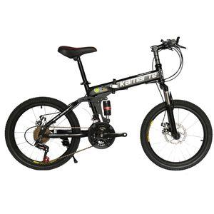 21 속도 어린이 자전거 20 인치 접이식 산악 자전거 두 디스크 브레이크 레이디 자전거 (5) 칼 휠과 자전거를 접는 스포크 휠