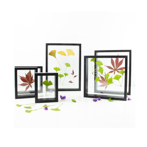 플로팅을위한 나무 플로트 프레임 꽃 투명 이미지 사진 DIY 선물 9 크기 컬렉션 블랙 화이트 파인 호두