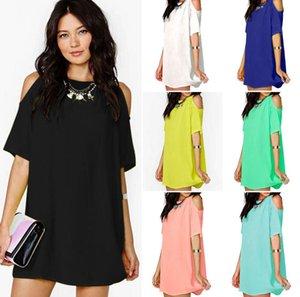 2020 femmes Vêtements chemises desserrées blouse robe de mousseline à manches courtes mode casual à manches courtes T-shirt col rond T-shirts Top CZ605