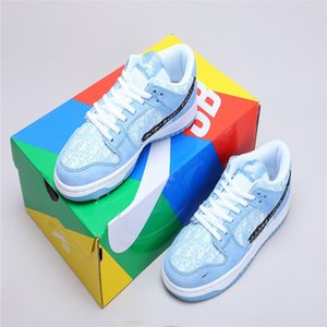 NIKE Air Force 1 x Dior SB x Travis Scott Dunk Low QS Cactus enfants hommes junior jeunesse Chaussures de course Athletic Sneaker Cactus Jack Trianers Sport Skateboard Flats